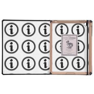 Símbolo de la información iPad carcasa