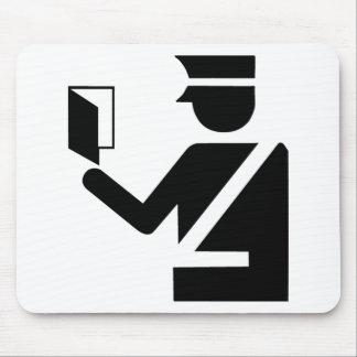 Símbolo de la inmigración mousepad