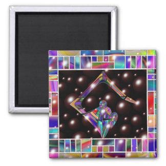 Símbolo de la luz imán cuadrado