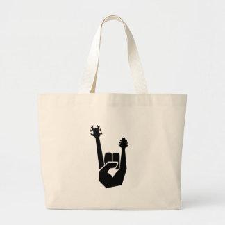 Símbolo de la mano de la roca bolsa de mano