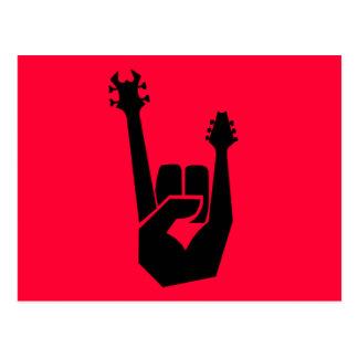 Símbolo de la mano de la roca postal