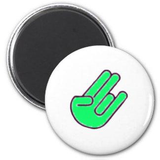 Símbolo de la mano del escándalo imanes de nevera