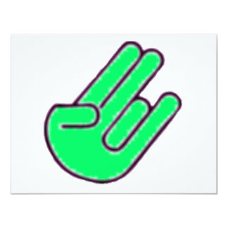 Símbolo de la mano del escándalo invitación 10,8 x 13,9 cm