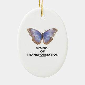 Símbolo de la mariposa de la transformación adorno de reyes