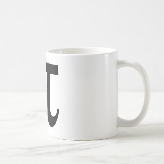 Símbolo de la matemáticas del pi taza de café