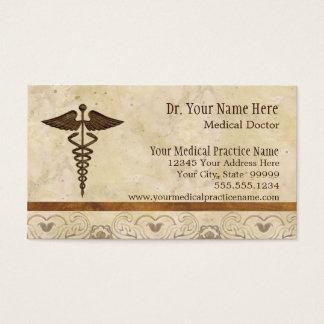 Símbolo de la medicina del médico práctica del tarjetas de visita