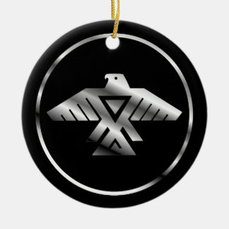 Símbolo de la nación de Chippewa Adorno Redondo De Cerámica