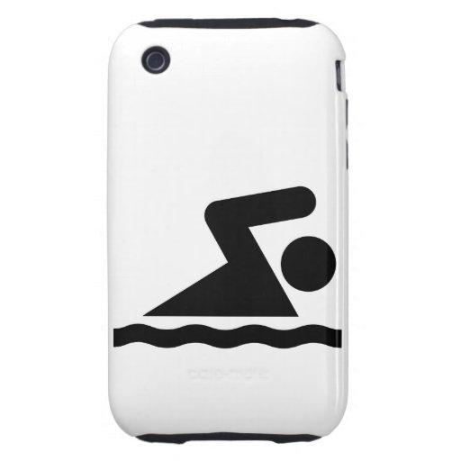 Símbolo de la nadada iPhone 3 tough cárcasa