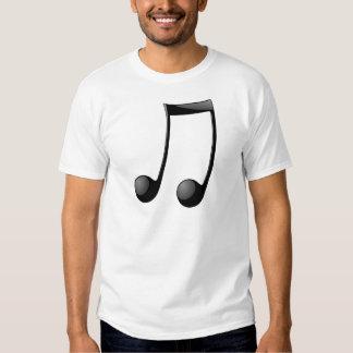 símbolo de la nota de la música remera