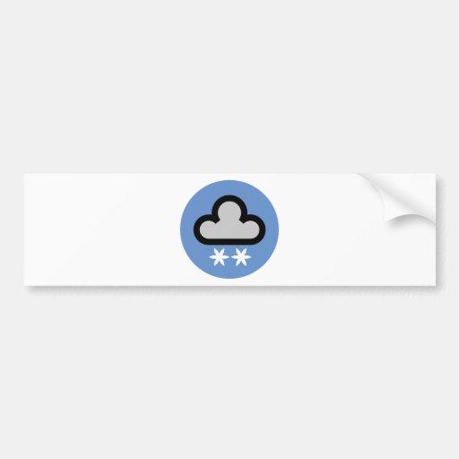 Símbolo de la nube del tiempo pegatina de parachoque