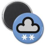 Símbolo de la nube del tiempo imanes para frigoríficos