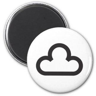Símbolo de la nube del tiempo imán redondo 5 cm