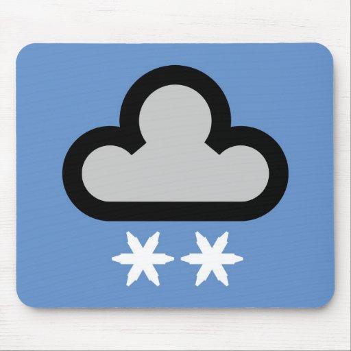 Símbolo de la nube del tiempo alfombrilla de ratones