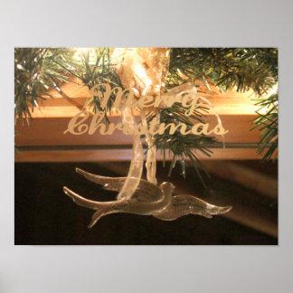 Símbolo de la paloma del navidad del navidad de la posters