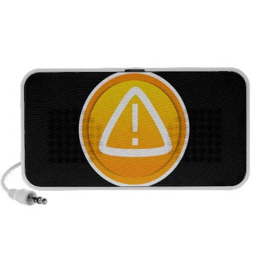 Símbolo de la precaución de la atención iPhone altavoz