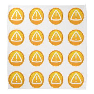 Símbolo de la precaución de la atención bandanas