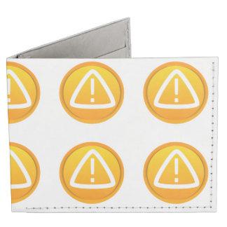 Símbolo de la precaución de la atención billeteras tyvek®