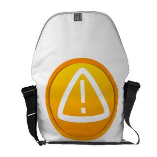 Símbolo de la precaución de la atención bolsa de mensajería