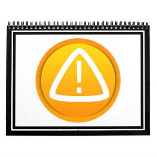 Símbolo de la precaución de la atención calendarios de pared