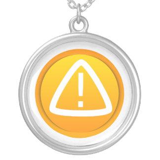 Símbolo de la precaución de la atención colgante redondo