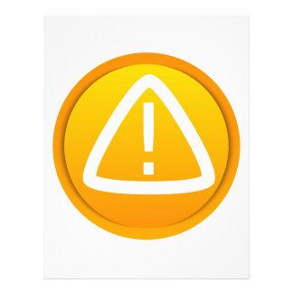 """Símbolo de la precaución de la atención folleto 8.5"""" x 11"""""""