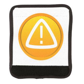 Símbolo de la precaución de la atención funda para asa de maleta