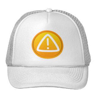 Símbolo de la precaución de la atención gorras