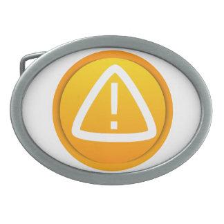 Símbolo de la precaución de la atención hebillas de cinturon ovales