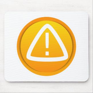 Símbolo de la precaución de la atención mouse pads