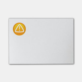 Símbolo de la precaución de la atención notas post-it®