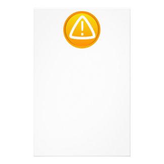 Símbolo de la precaución de la atención  papeleria