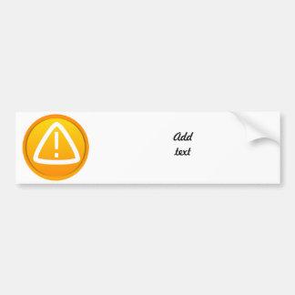 Símbolo de la precaución de la atención pegatina para auto