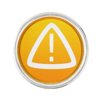 Símbolo de la precaución de la atención pin