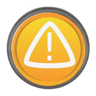 Símbolo de la precaución de la atención pins plomizos