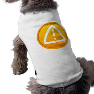 Símbolo de la precaución de la atención playera sin mangas para perro