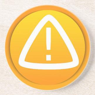 Símbolo de la precaución de la atención posavasos diseño