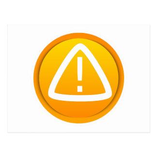 Símbolo de la precaución de la atención postales