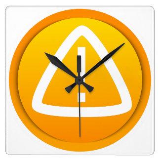 Símbolo de la precaución de la atención relojes de pared