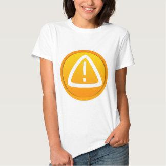 Símbolo de la precaución de la atención remera