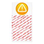 Símbolo de la precaución de la atención tarjetas fotográficas