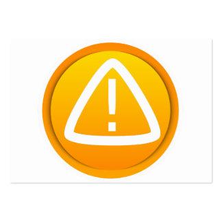 Símbolo de la precaución de la atención tarjetas de visita grandes