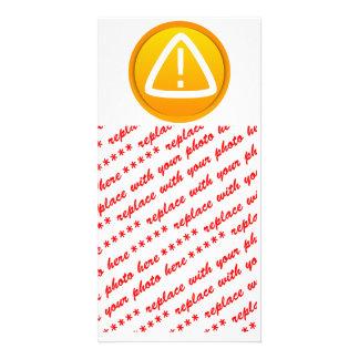 Símbolo de la precaución de la atención tarjetas fotograficas