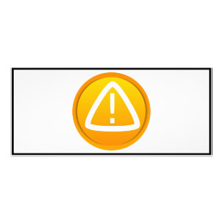 Símbolo de la precaución de la atención tarjetas publicitarias