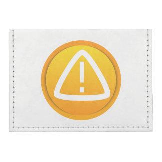 Símbolo de la precaución de la atención tarjeteros tyvek®