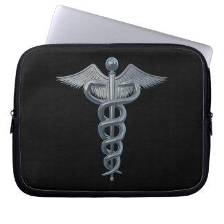 Símbolo de la profesión médica fundas portátiles