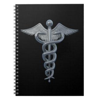 Símbolo de la profesión médica libros de apuntes