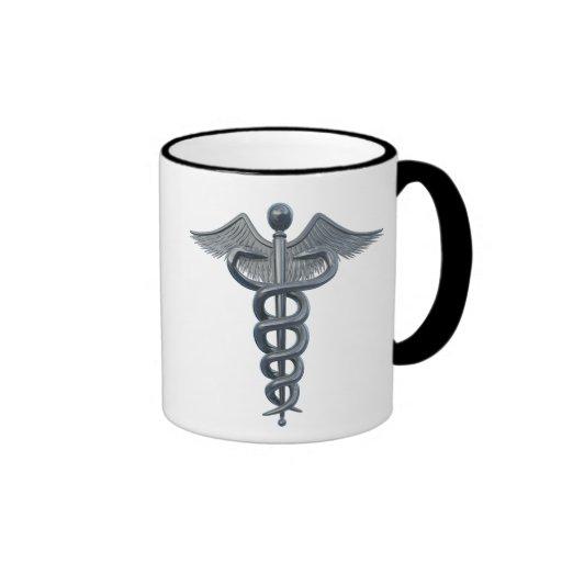 Símbolo de la profesión médica taza de café