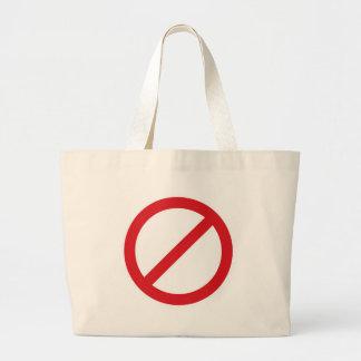 Símbolo de la prohibición Sign No Bolsas De Mano