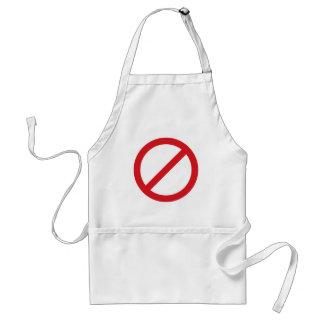 Símbolo de la prohibición Sign/No Delantal
