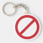 Símbolo de la prohibición Sign/No Llavero Personalizado